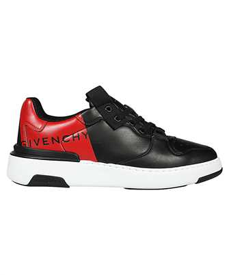 wing two-tone leather sneakers