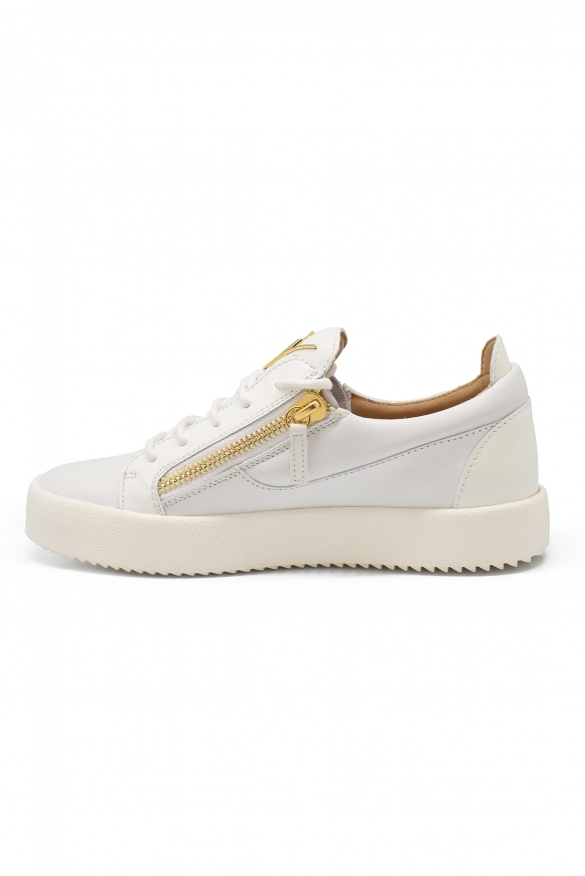 Men luxury sneakers - Giuseppe Zanotti Frankie white leather sneakers