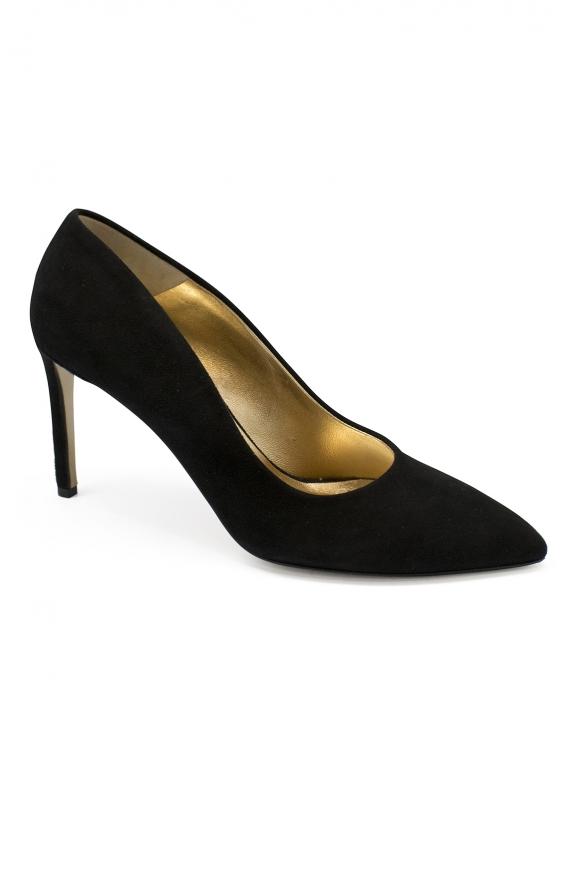 Luxury shoes for women - Walter Steiger black suede pumps