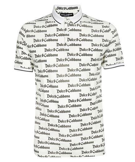 Dolce & Gabbana ALLOVER LOGO Polo