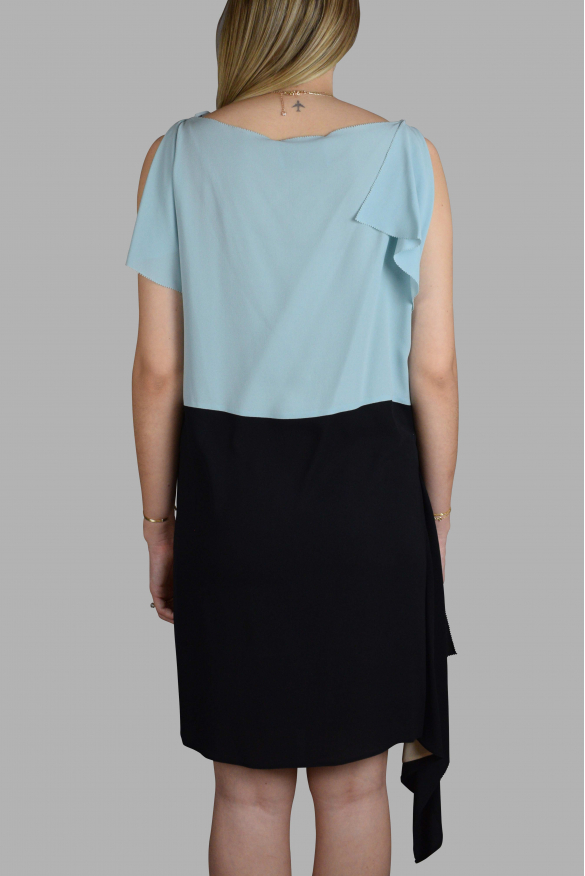 Luxury dress for women - Prada blue, beige and black dress