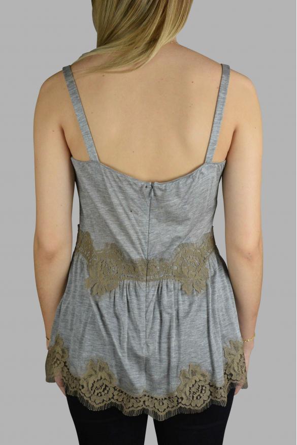 Women's luxury t-shirt - Dolce & Gabanna heather gray top