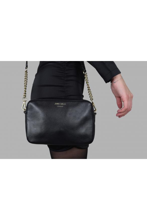 Luxury handbag - Jimmy Choo black leather handbag