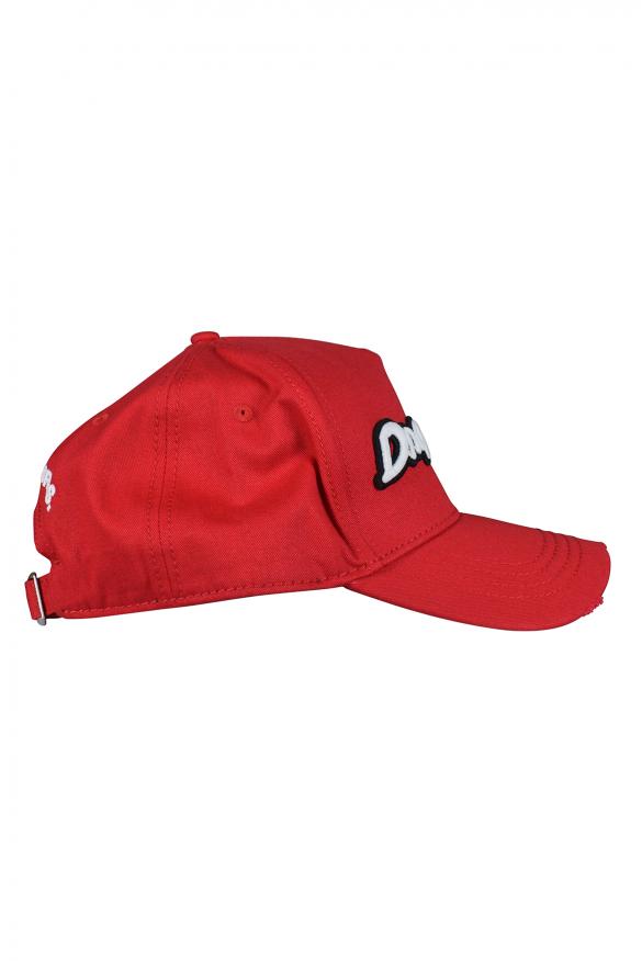 Men's luxury cap - Red Dsquared2 cap with white logo