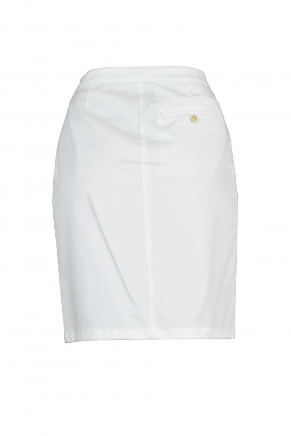 Luxury skirt for women - Prada white pleated front skirt