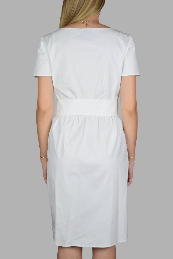 Luxury dress for women - Prada white dress with waves in the front