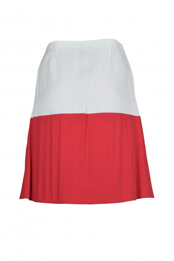 Luxury skirt for women - Antonio Marras white and red skirt