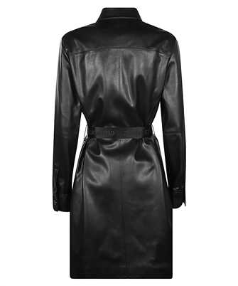 Karl Lagerfeld FAUX-LEATHER LONG-SLEEVED SHIRT Dress