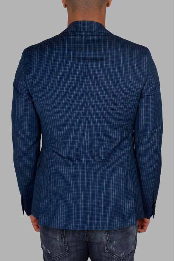 Men's luxury jacket - Prada blue jacket with checkered pattern