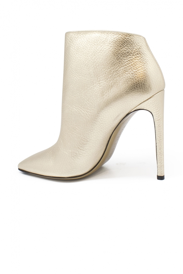 Luxury shoes for women - Walter Steiger ankle boots in gold leather