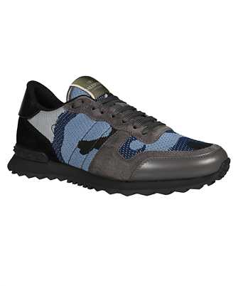 Valentino Garavani MESH FABRIC CAMOUFLAGE ROCKRUNNER Sneakers