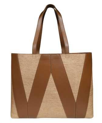 MAX MARA WEEKEND ANNICA STRAW EFFECT SHOPPER Bag