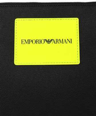 emporio armani clutch logo bag