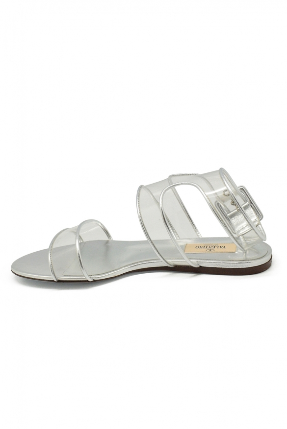 Women luxury shoes - Valentino sandals in pink leather
