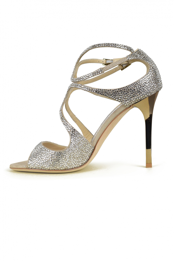 Luxury shoes for women - Jimmy Choo Lang suede and crystals