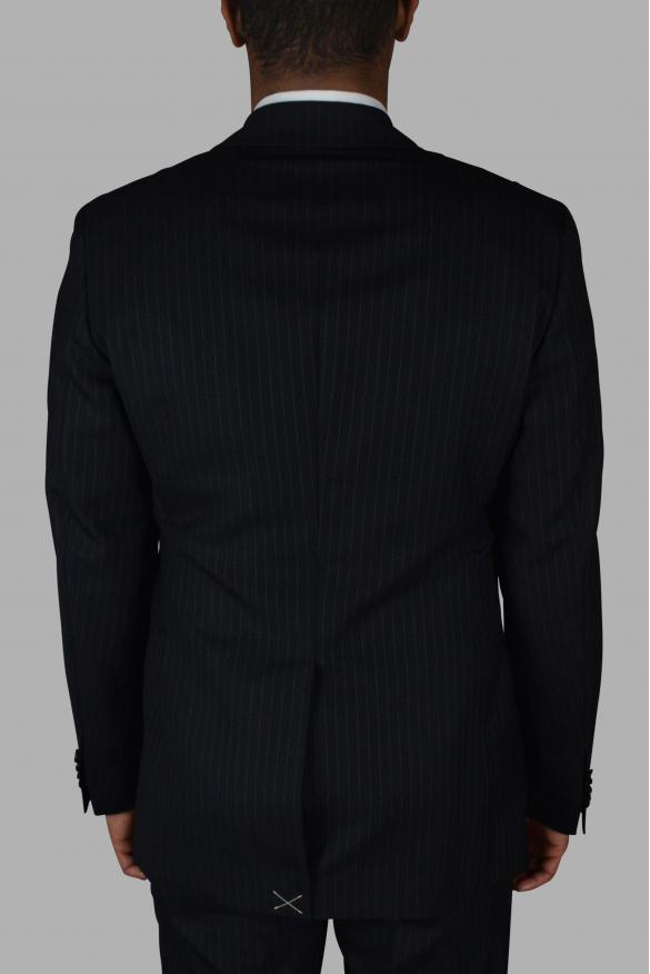 Men's luxury suit - Dolce & Gabbana black striped two-piece suit