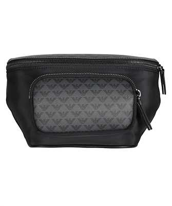 emporio armani logo embossed belt bag