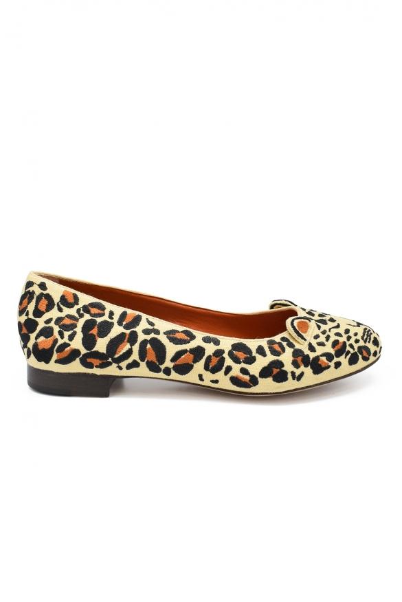 Women luxury shoes - Fendi Borchie bordeaux and blue ballet flats
