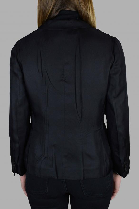 Women's luxury jacket - Prada light black silk jacket