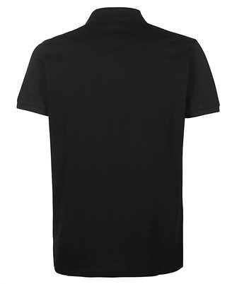 slogan printed cotton polo shirt