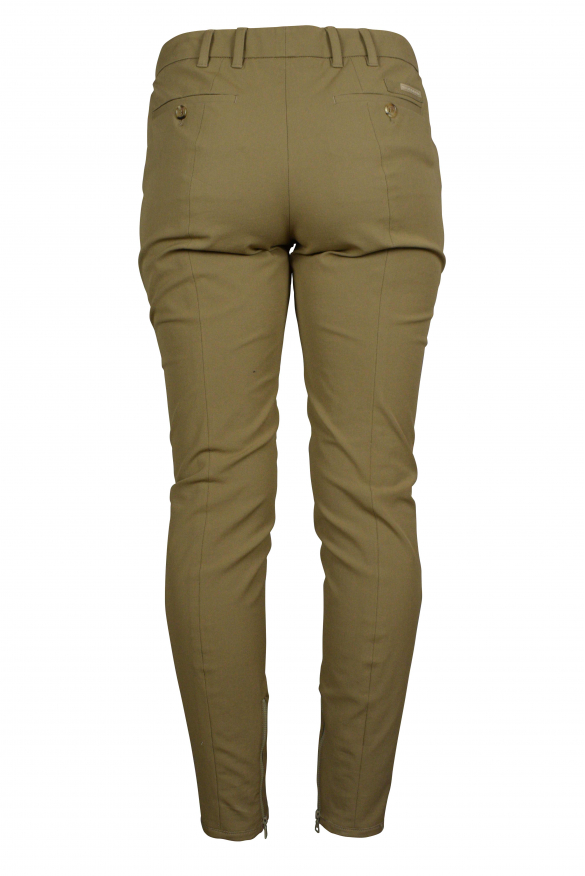Luxury trousers for women - Prada brown trousers with zipper
