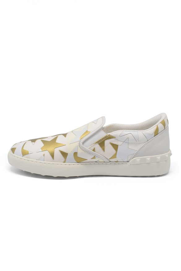 Luxury sneakers for men - Valentino Camustars slip-on leather sneakers