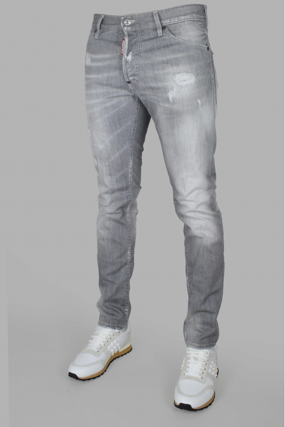 Men's luxury jean - Cool Guy Jean Dsquared2 gray with black patch logo