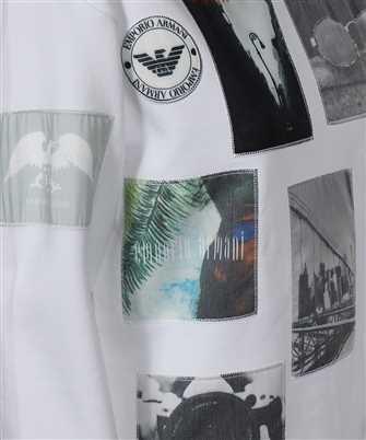 multi-photograph print sweatshirt