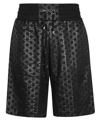 balmain all over monogram shorts