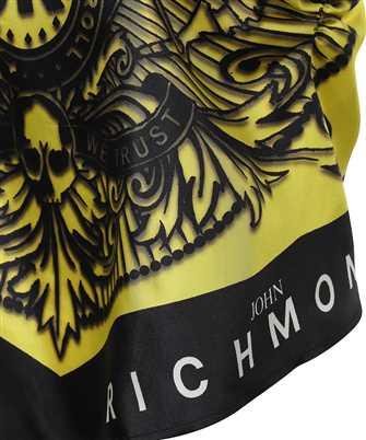 logo-print silk vest