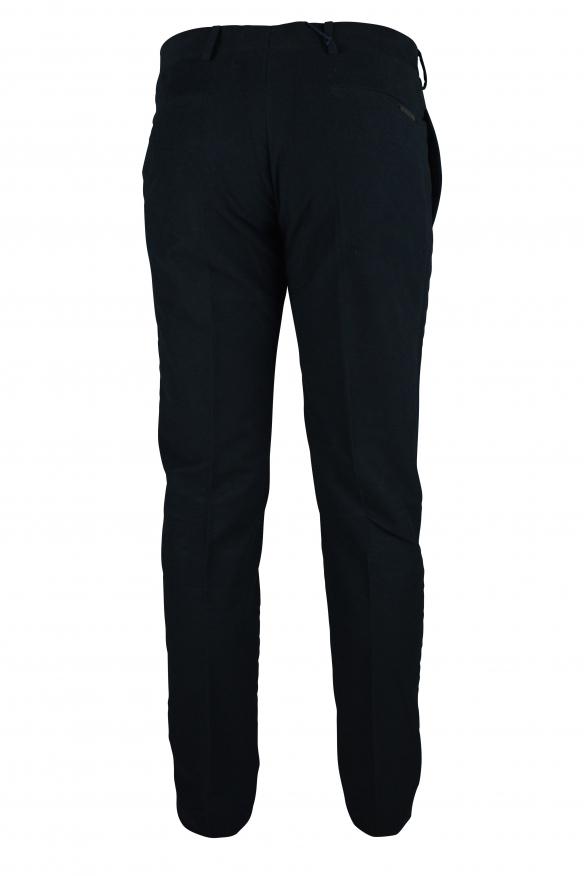 Luxury trousers for men - Prada dark blue velvet effect trousers