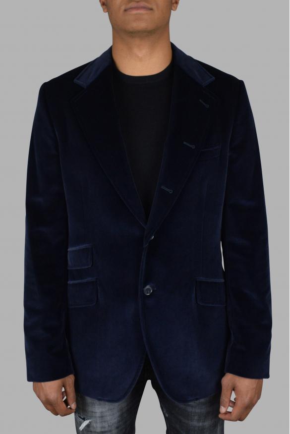 Men's luxury jacket - Blue Dolce & Gabbana thick jacket