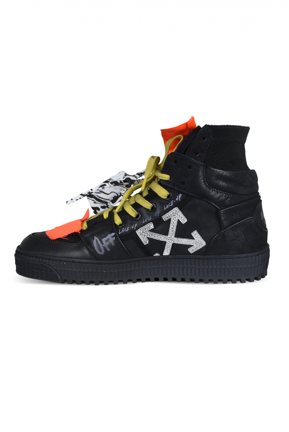 Men's luxury sneakers - Off Court 3.0 Off-White sneakers in black leather