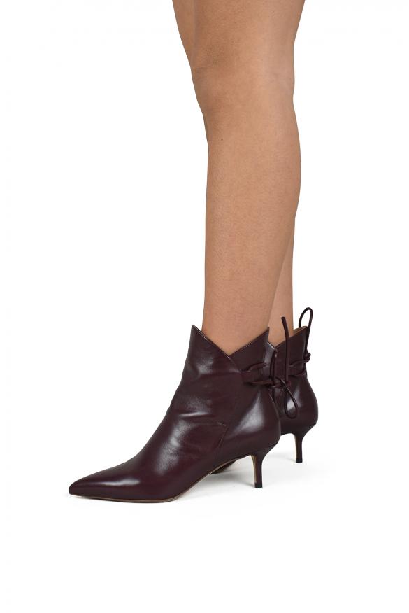 Women's luxury shoes - Burgundy Francesco Russo boots.