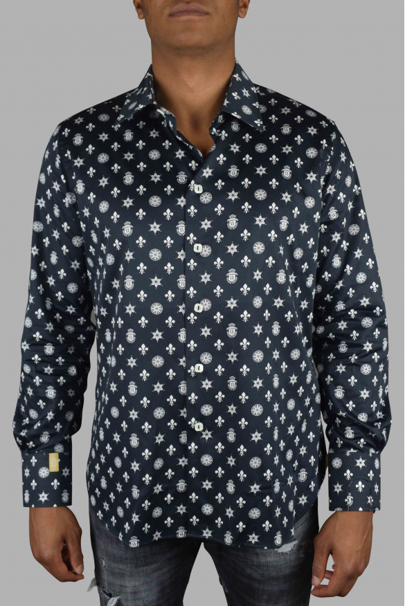 Luxury shirt for men - Milano Casino Billionaire black shirt