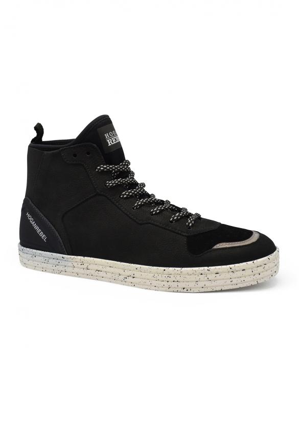 Luxury sneakers for men - Hogan Rebel R141 sneakers in black suede