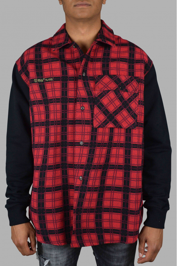 Men's luxury shirt - Off-White red and black checked shirt