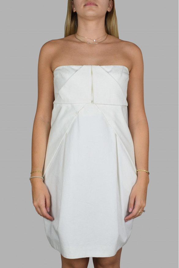 Luxury dress for women - Gucci white strapless dress
