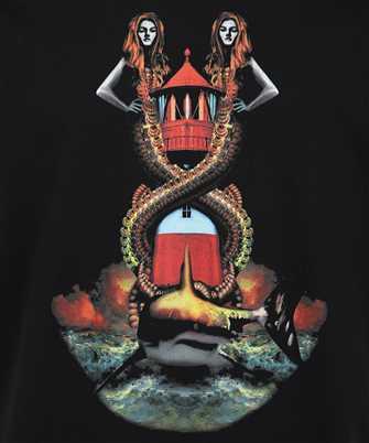 Burberry MERMAID PRINT COTTON OVERSIZED T-shirt