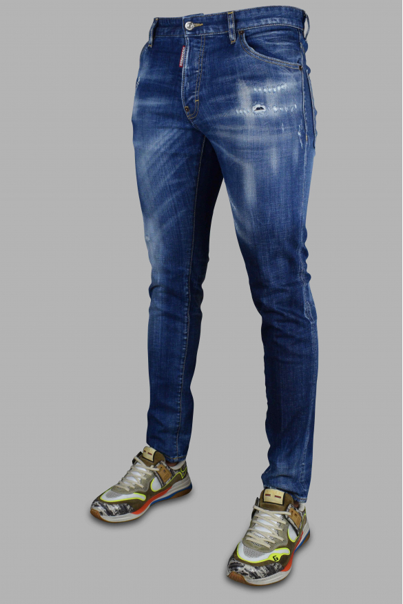 Men's luxury jeans - Cool Guy Jean Dsquared2 blue ripped faded