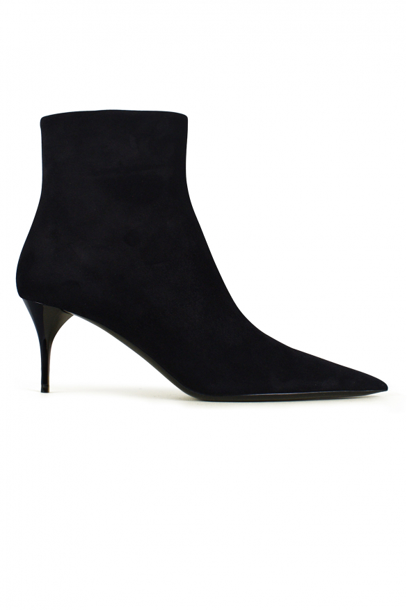 Women's luxury ankle boots - Saint Laurent Lexi model ankle boots in black suede
