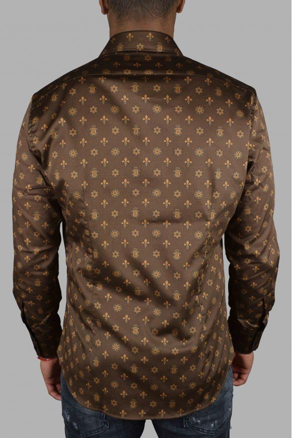 Luxury shirt for men - Milano Casino Billionaire brown shirt