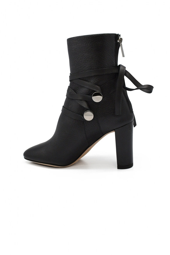 Luxury shoes for women - Jimmy Choo Houston 85 boots in black leather