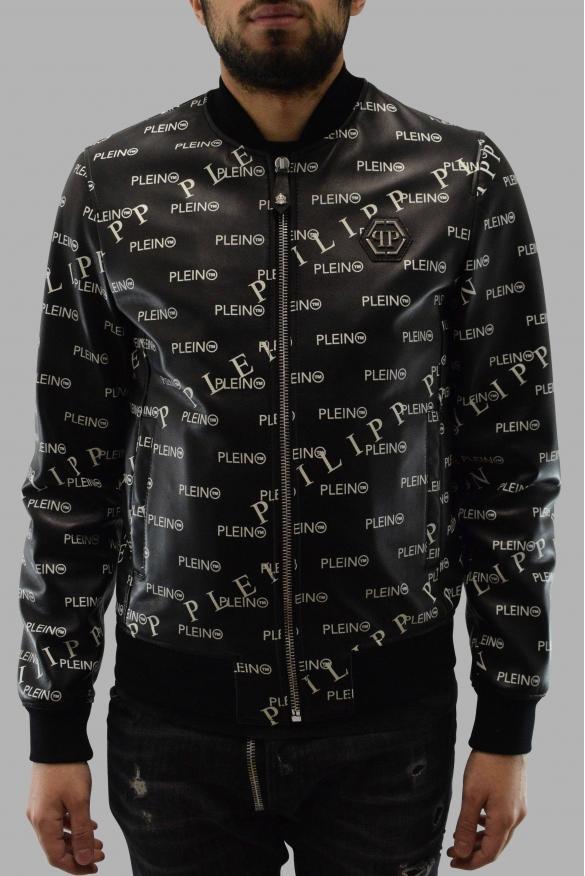 Men's designer jacket - Philipp Plein printed Bomber jacket in leather