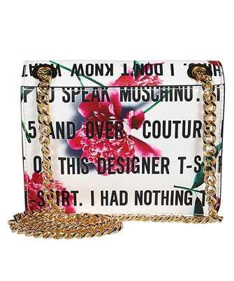 slogan print floral clutch bag
