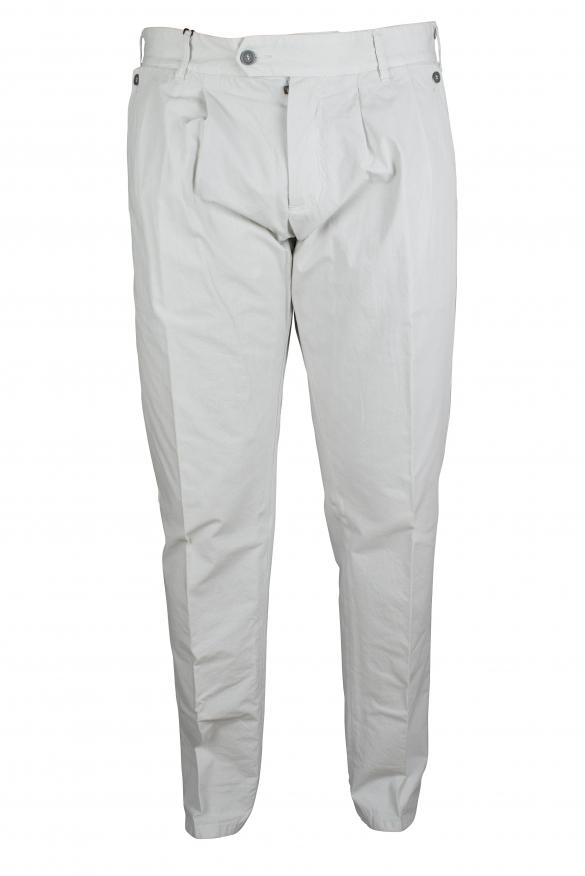 Luxury trousers for men - Dolce & Gabbana light gray trousers