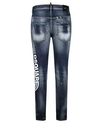 logo-print cropped jeans