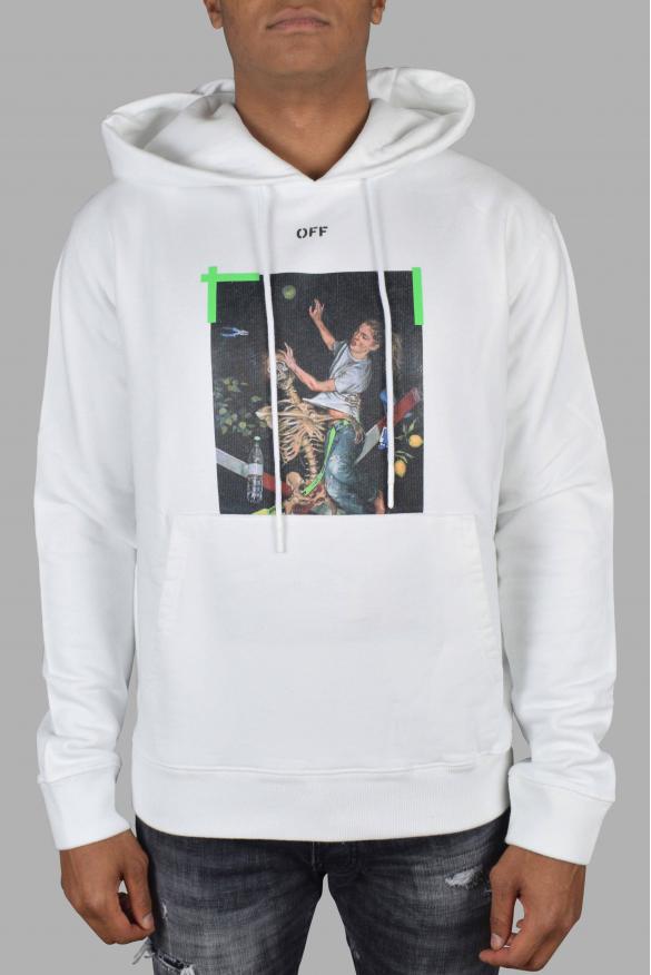 Luxury sweatshirt for men - Pascal Off-White white hoodie
