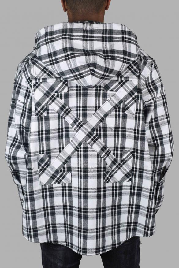 Men's luxury shirt - Off-White checkered hooded shirt