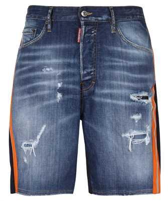 light-wash denim shorts